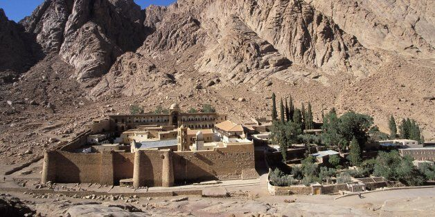 Sinai, Egypt In The Sinai Desert, Monastery Of The Greek Orthodox Church Saint-Catherine Built Under...