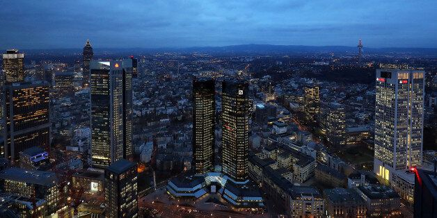 FILE PHOTO: The headquarters of Germany's Deutsche Bank are seen in Frankfurt, Germany, January 31, 2017....