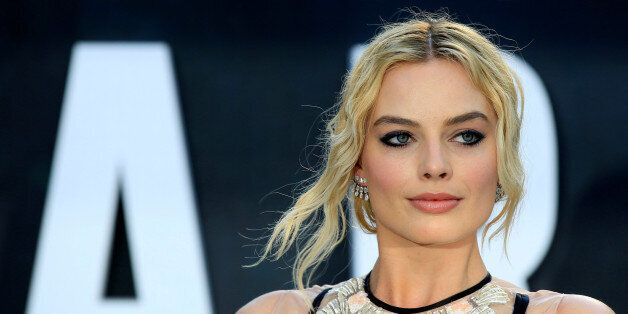 Australian actress Margot Robbie poses at the European premiere of the film