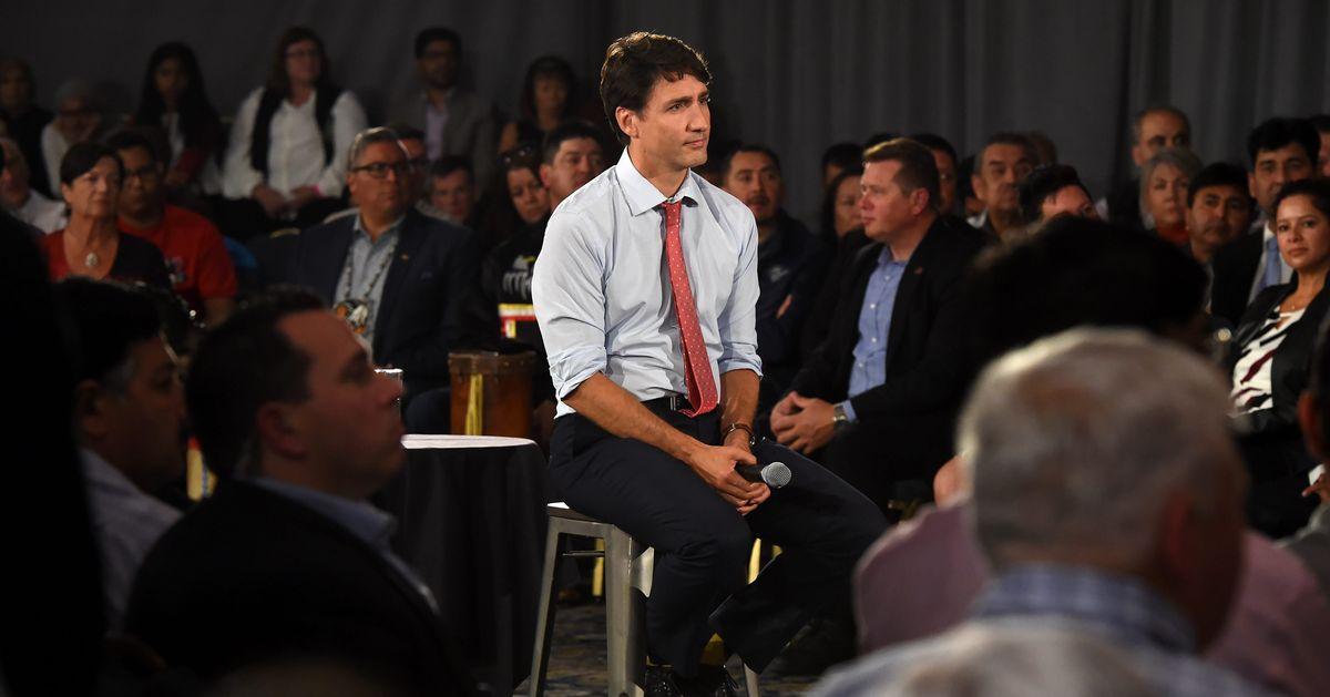Trudeau Asked At Saskatoon Town Hall To 'Round To The Nearest 5' How Often He Wore Racist Makeup