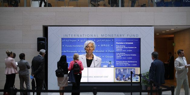 WASHINGTON, DC - APRIL 20: International Monetary Fund Managing Director Christine Lagarde appears on...