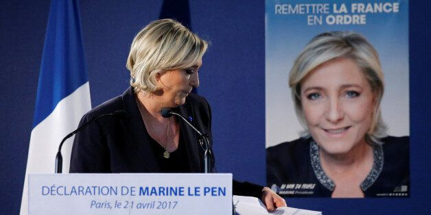 Marine Le Pen, French National Front (FN) political party leader and candidate for the French 2017 presidential...