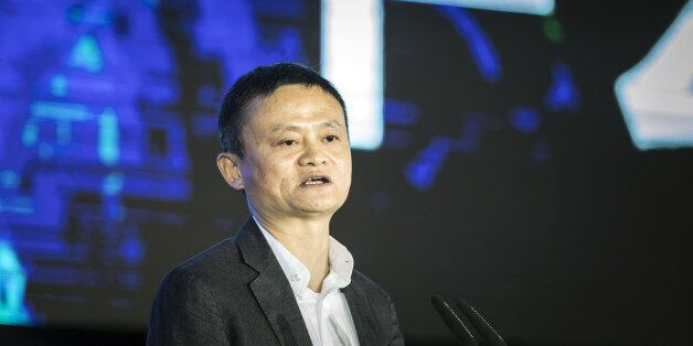 Billionaire Jack Ma, chairman of Alibaba Group Holding Ltd., speaks during a session at the China Green...