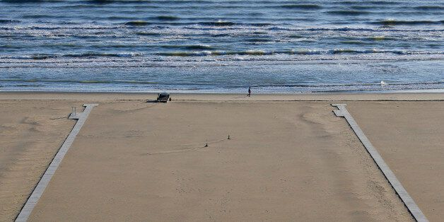 Beach is seen on the coast of Rimini April 16, 2014. Italy's beaches are a family affair - and that's...