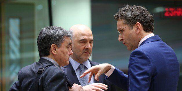 BRUSSELS, BELGIUM - MARCH 20: Dutch Finance Minister and President of the Eurogroup, Jeroen Dijsselbloem...