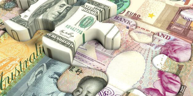 Concept background for exchange rate of world