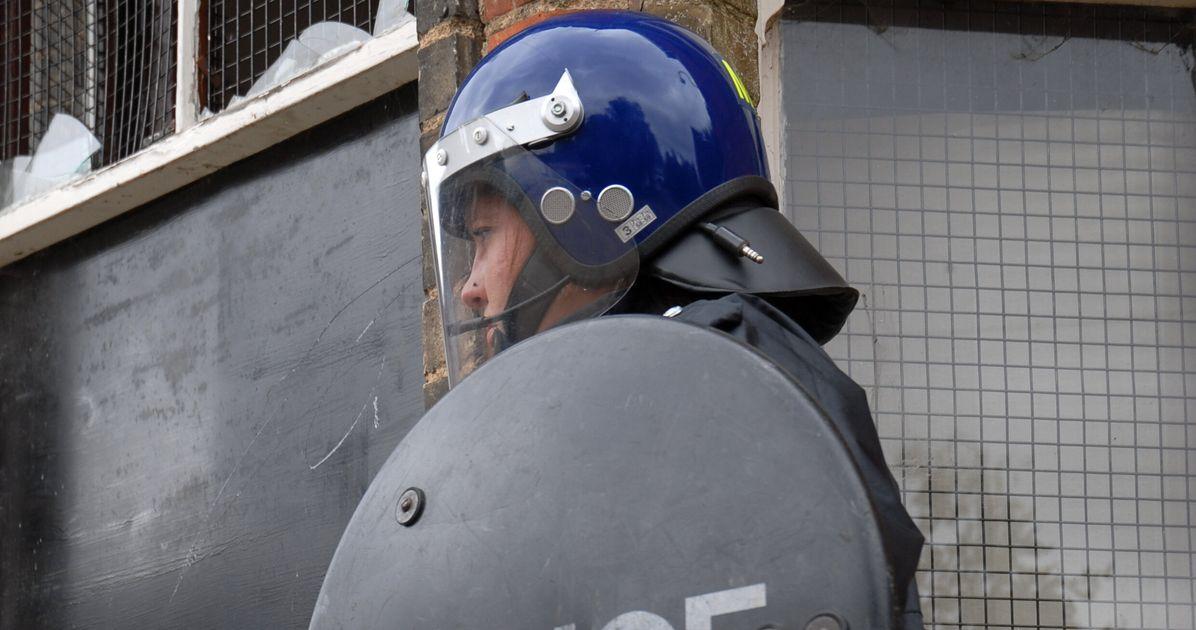Police CSI Van Set Alight And Bricks Hurled At Officers In Leeds