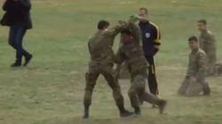 Επίδειξη πολεμικών τεχνών από τους σπουδαστές της Στρατιωτικής Σχολής