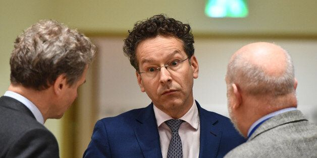 Eurogroup President and Dutch Finance Minister Jeroen Dijsselbloem is pictured ahead of a Eurogroup finance...
