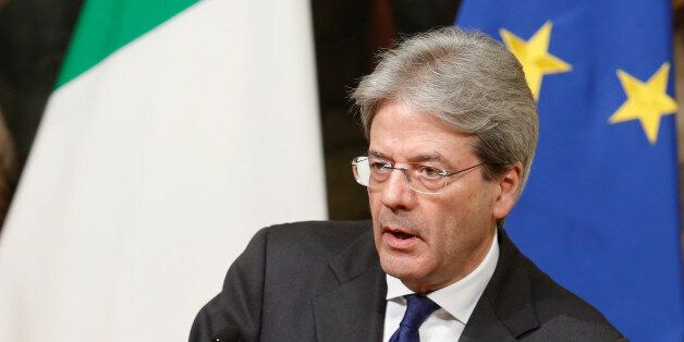 Italy's Prime Minister Paolo Gentiloni attends a joint news conference with his Japanese counterpart...