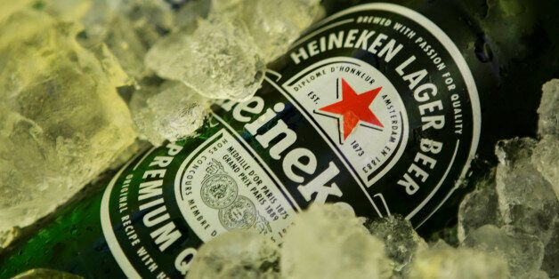 A bottle of Heineken beer, in the city of Vitoria do Espirito Santo, southeast Brazil, on January 24,...