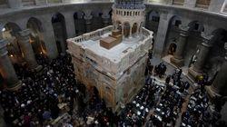 Αναφορά για ανεξήγητο φαινόμενο κατά την αναστήλωση του Πανάγιου Τάφου από την ελληνική
