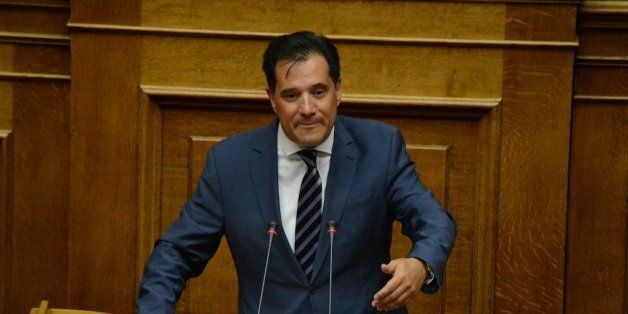 ATHENS, GREECE - 2016/07/19: MP with New Democracy Adonis Georgiadis talks at the Greek parliament.Greek...