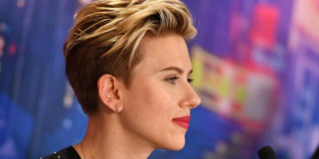 PARIS, FRANCE - MARCH 22: Scarlett Johansson attends the official press conference for the Paris Premiere...