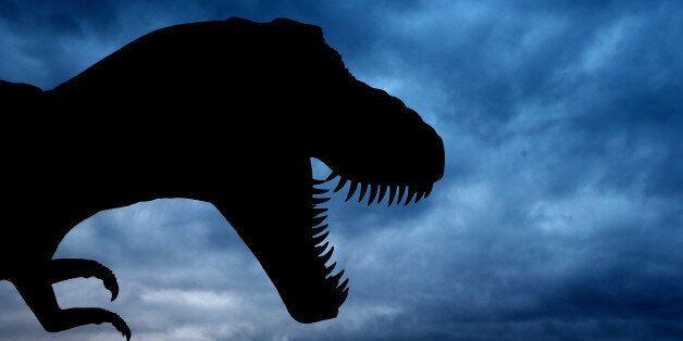 SUNSHINE COAST, AUSTRALIA - AUGUST 27: (EUROPE AND AUSTRALASIA OUT) A giant Tyrannosaurus Rex statue...