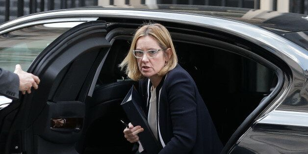 British Home Secretary Amber Rudd arrives outside 10 Downing Street in central London, on March 28, 2017.British...