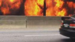 Τμήμα εθνικής λεωφόρου κατέρρευσε στην Ατλάντα μετά από