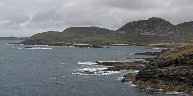 Sanna Bay seen from Ardnamurchan Point in Lochaber, Scottish Highlands, Scotland. (Photo by: Arterra/UIG...