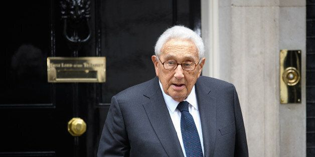 LONDON, ENGLAND - OCTOBER 25: Former US Diplomat Henry Kissinger leaves following a meeting with British...
