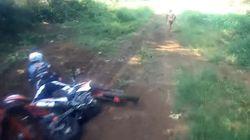 Μυστήριο με φιγούρα ημίγυμνου ανθρώπου που κατέγραψαν μοτοσυκλετιστές σε δάσος στην