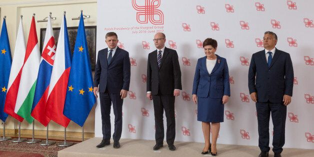 Family Photo (from the left) Prime Minister of Slovakia Robert Fico, Prime Minister of the Czech Republic...