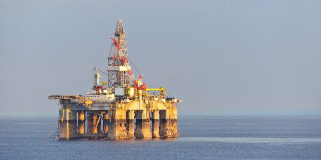 Israel gas and oil rig in Cyprus. Offshore exploration
