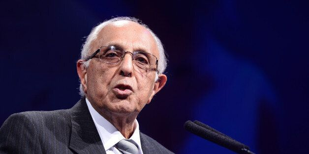 LONDON, ENGLAND - APRIL 04: Ahmed Kathrada onstage during The Asian Awards held at The Grosvenor House...