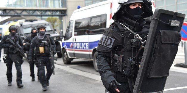 PARIS, FRANCE - MARCH 18 : French anti-terrorist force RAID operate at Orly Airport, near Paris, France...