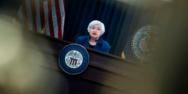 Federal Reserve Board Chairman Janet Yellen speaks during a briefing on March 15, 2017 in Washington,...