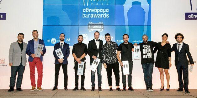 Ο εκδότης του «αθηνοράματος» Δημήτρης Ηλιόπουλος απένειμε τα βραβεία στα καλύτερα μπαρ της Ελλάδας που κέρδισαν δύο Shaker