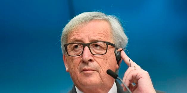 EU Commission president Jean-Claude Juncker holds a press conference after the second day of a European...