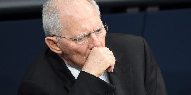 BERLIN, GERMANY - MARCH 09: German Finance Minister Wolfgang Schaeuble attends the session at the Bundestag,...