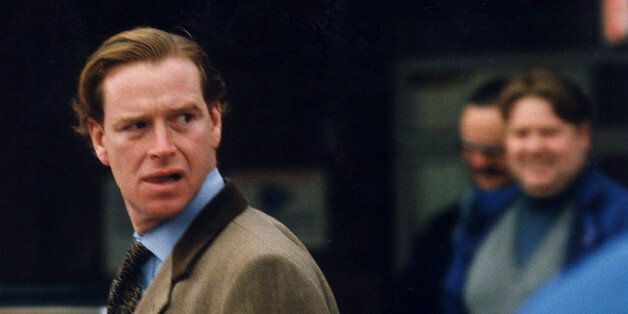 James Hewitt, former lover of Diana, Princess of Wales emerges from a discount shopping warehouse in...