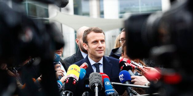 Emmanuel Macron, head of the political movement En Marche ! (or Onwards !) and candidate for the 2017...
