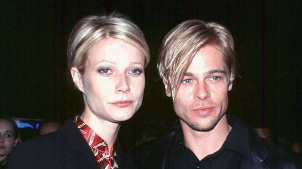 "Actor Brad Pitt and his girlfriend, actress Gwyneth Paltrow, at the New York premiere of Pitt's new film ""The Devil's Own""  March 13. The film is a Capitol-TriStar Pictures release. 