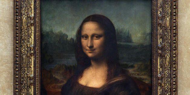 Paris, FRANCE: Picture taken 05 April 2005 in Paris Louvre Museum of the Portrait of Mona Lisa, painted...