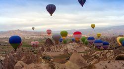 Σύγκρουση τριών αερόστατων με δεκάδες τουρίστες στην Καππαδοκία - Πολλοί οι