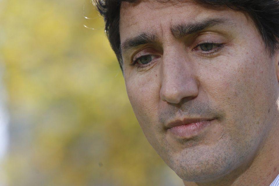 Justin Trudeau durante la rueda de prensa posterior a la publicación de las