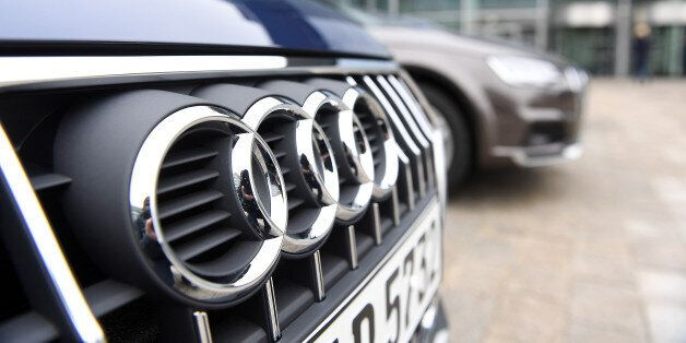 Audi cars are parked in front of the company's headquarters in Ingolstadt, Germany, March 15, 2017. REUTERS/Lukas