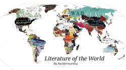 «Literature of the World». Ένα βιβλίο για κάθε χώρα σε ένα παγκόσμιο χάρτη για τους εραστές της