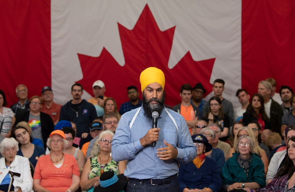 Jagmeet Singh, líder del Partido Demócrata canadiense, durante un