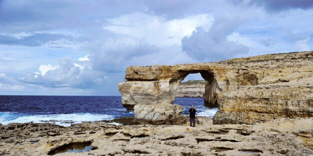(GERMANY OUT) MLI Malta, Island of Gozo Mgarr with Azure Window (Photo by Klaus Rose/ullstein bild via...