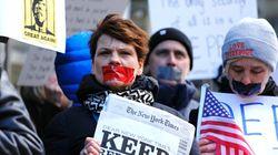 Η πρώτη διαδήλωση υπέρ του Τύπου μπροστά στα γραφεία των New York