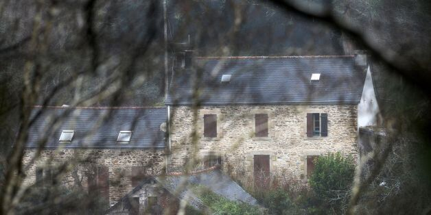 A picture taken on March 7, 2017 in Pont-de-Buis, western France shows a view of the house of Lydie Troadec,...
