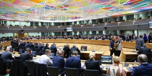 BRUSSELS, BELGIUM - MARCH 06: A general view of meeting of the EU Foreign Affairs Council at EU Council...