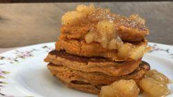 Συνταγή για Pancakes από γλυκοπατάτα με καραμελωμένα