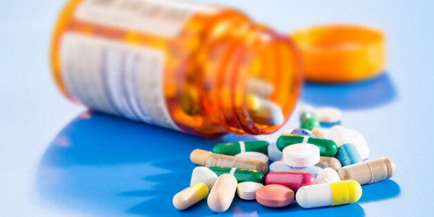 Pills and capsules in medical