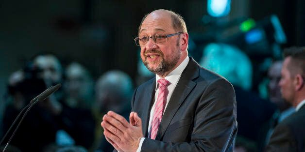 LEIPZIG, GERMANY - FEBRUARY 26: Martin Schulz, chancellor candidate of the German Social Democrats (SPD),...