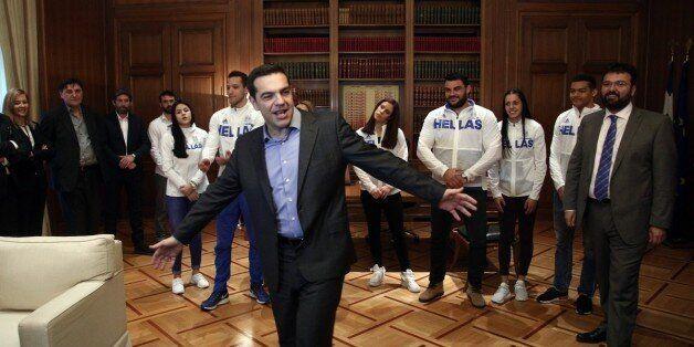 Ο Τσίπρας υποδέχτηκε την ελληνική αποστολή στίβου στο Μέγαρο