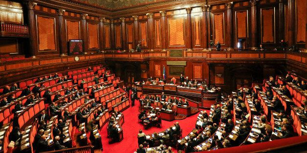 Newly appointed Italian Prime Minister Paolo Gentiloni speaks before a confidence vote at the Senate...